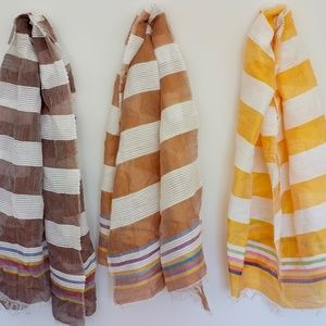 Accessories - Chocolate, Bronze, and Amber Scarves